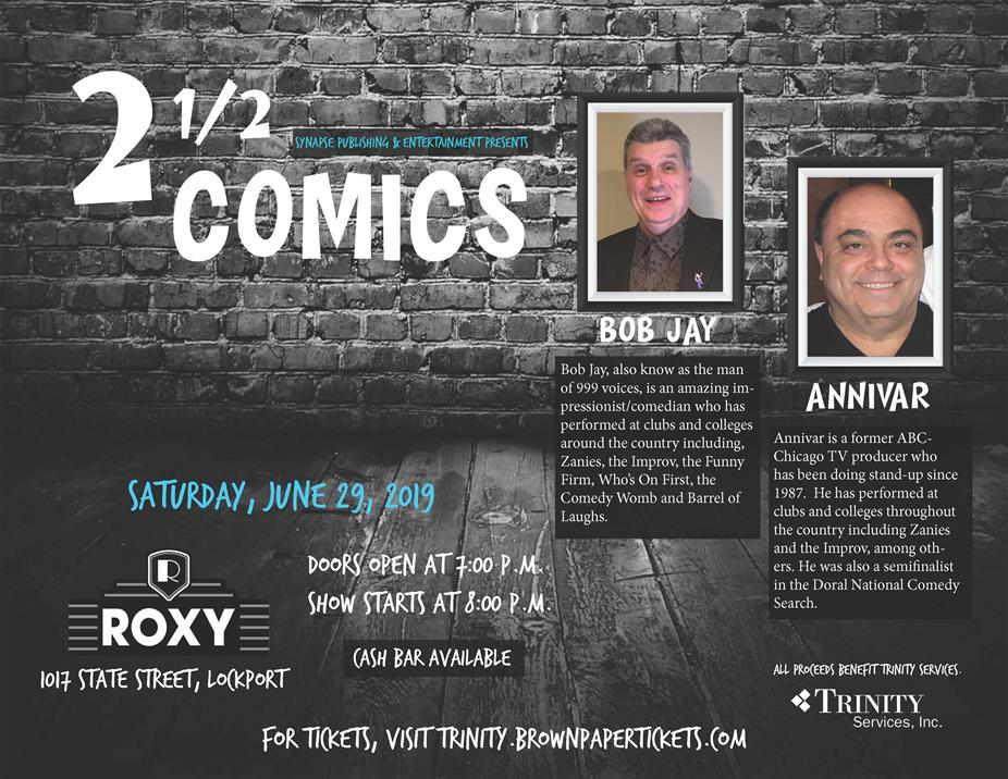Two and 1/2 Comics Flyer
