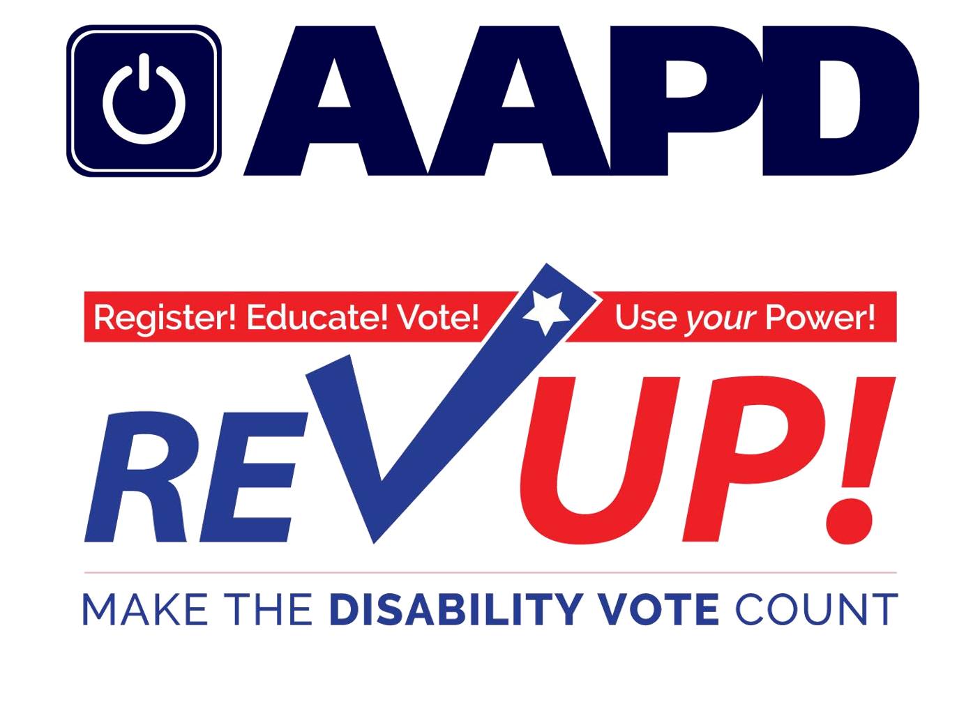 AADP and REVUP logos