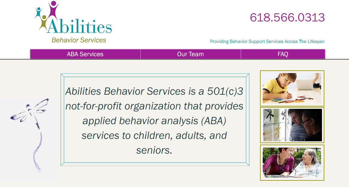 Abilities Behavior Services Website Screenshot