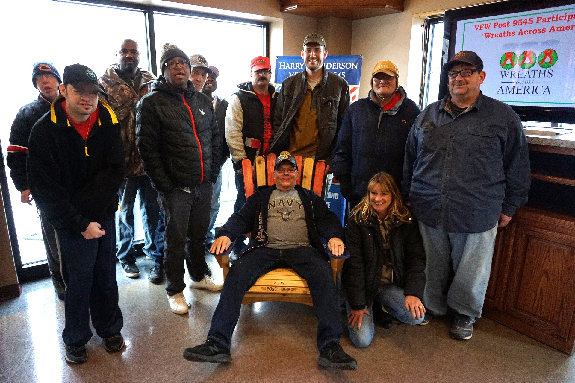 New Lenox Woodworks donates chair