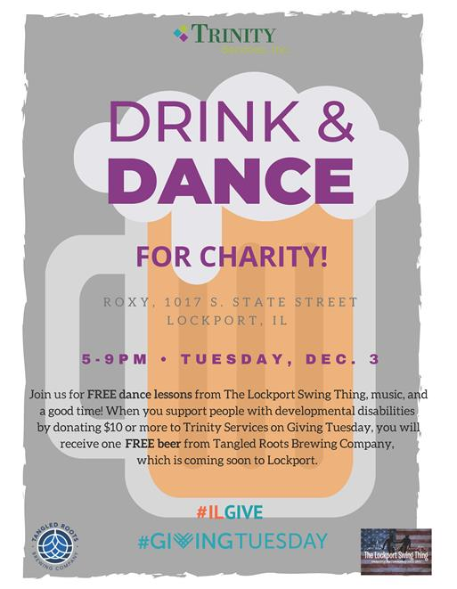 Drink & Dance for Charity Flyer