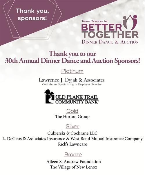 Thank you 2019 Dinner Dance sponsors!