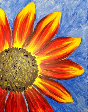 Paint Night Sunflower