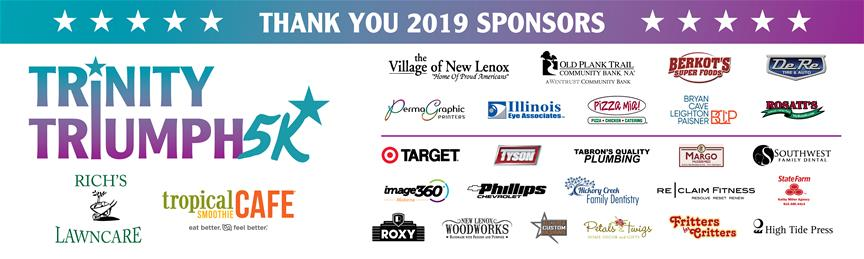 Thank you Trinity Triumph 5K 2019 Sponsors